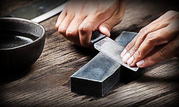 Как не нужно точить ножи