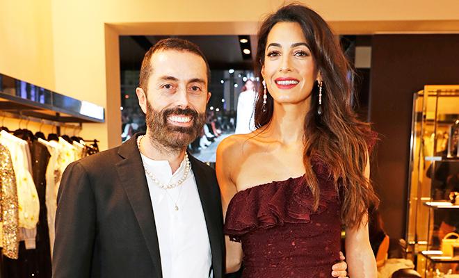 Амаль Клуни поддержала своего любимого дизайнера на открытии нового бутика
