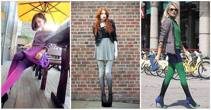 Колготки с эффектом ombre: модные идеи и образы