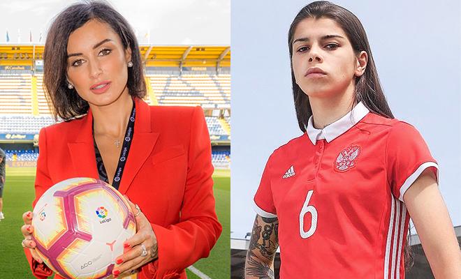 Тина Канделаки пообщалась с Надей Карповой - звездой женского футбола