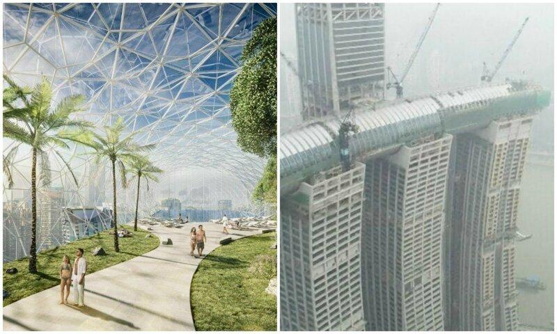 В Китае строят уникальный «небесный коридор», соединяющий небоскребы