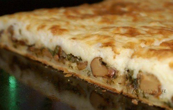 Слоёный пирог с грибами и картофелем. Просто гениально!