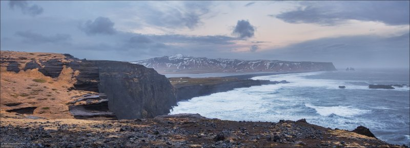 Исландия зимой бывает сурова. В основном из-за ветра. Ветер 30 м/с — вполне нормальное дело. исландия, красота, пейзаж, природа, путешествия, фото, фотограф, фотографии
