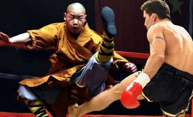 Шаолиньский монах крушит бойцов других стилей культура