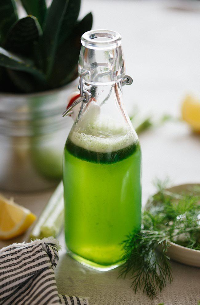 Зелёный сок для пищеварения