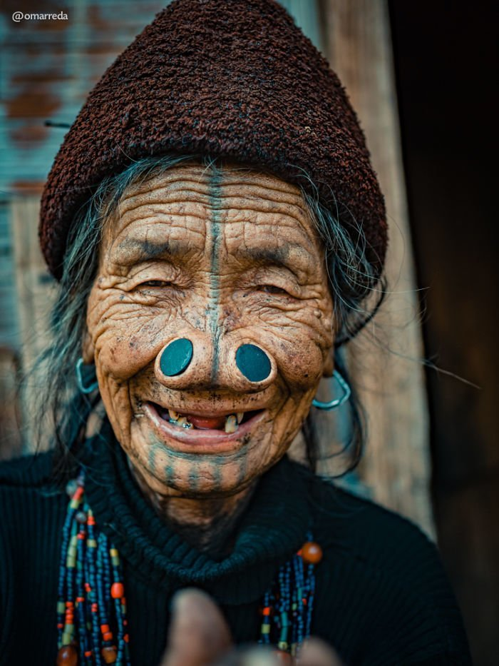 7. апатани, женщина, индия, народ, портрет, традиция, фотография, фотомир