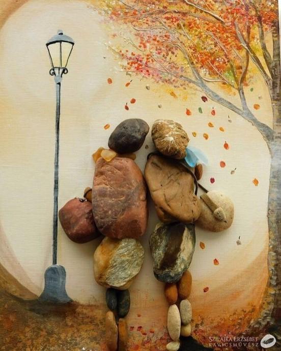 Картины из камней: идеи для вдохновения вдохновляемся,творчество