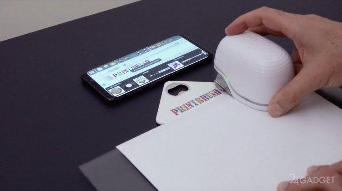 Ручной мини-принтер для печати на любой поверхности