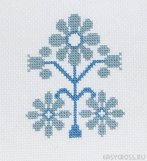 Скандинавская вышивка крестом