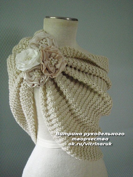 Такую красоту несложно связать спицами болеро,вязание,женские хобби,рукоделие,своими руками,умелые руки