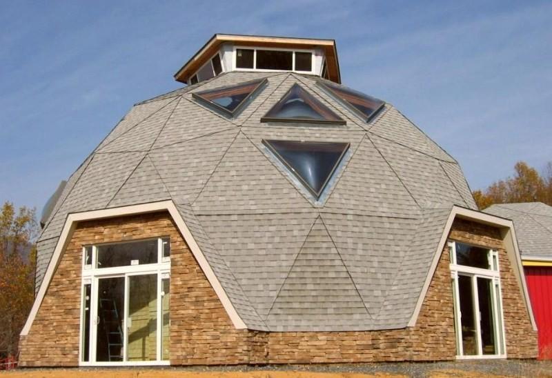 Как самостоятельно построить купольный дом