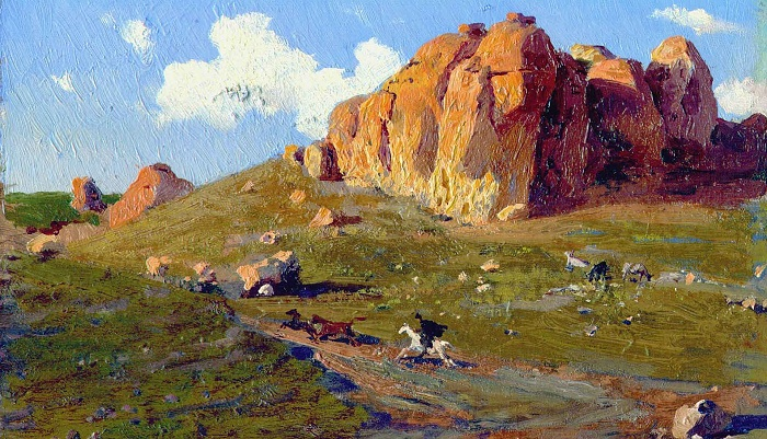 Кавказский пейзаж. Автор: Н. Ярошенко.