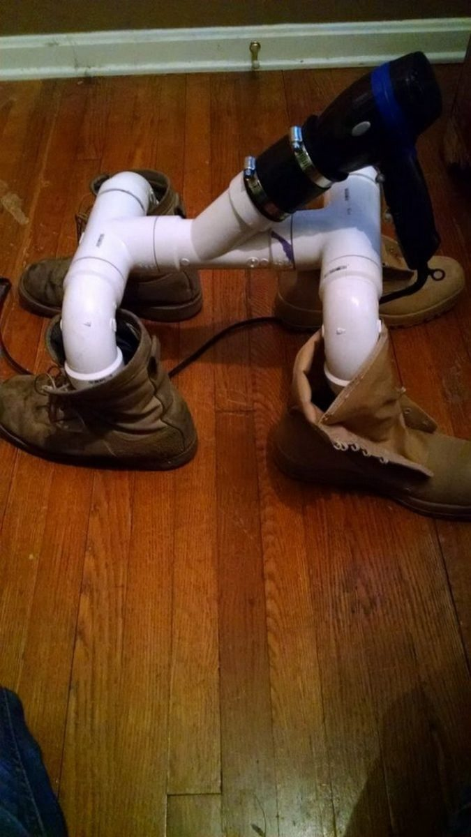 Сушилка для обуви из пластиковых труб из пластиковых труб,сушилка для обуви