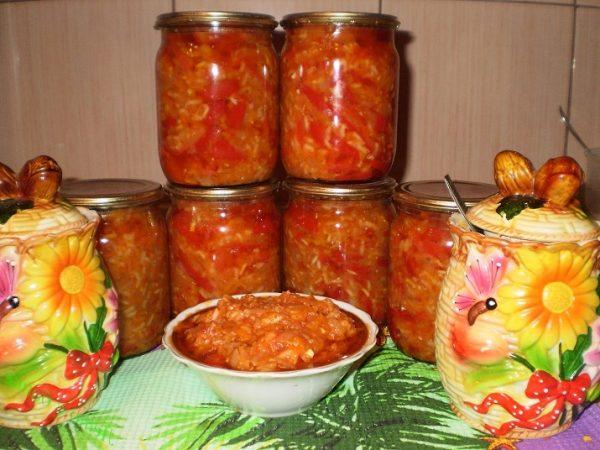 Анкл бенс из кабачков на зиму с помидорами