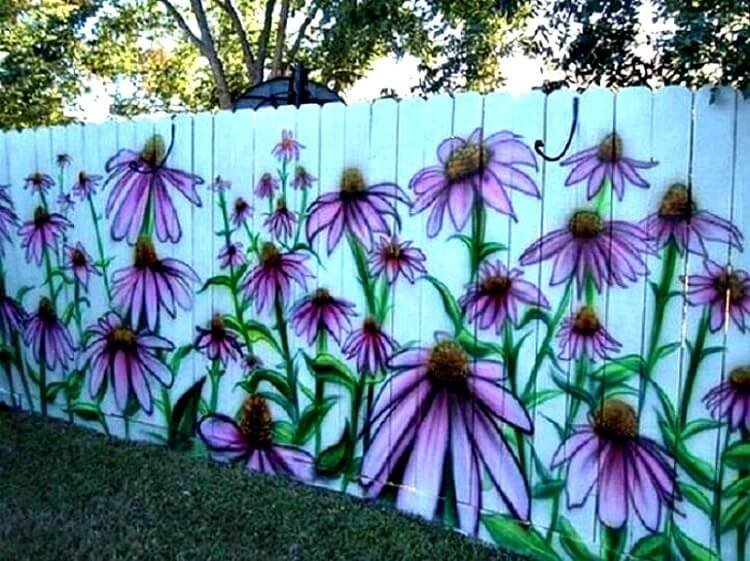 так случилось как раскрасить забор на даче картинки яркий неприхотливый садовый