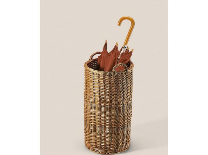 Плетёная зонтница впишется в эко стиль, скандинавский, деревенский
