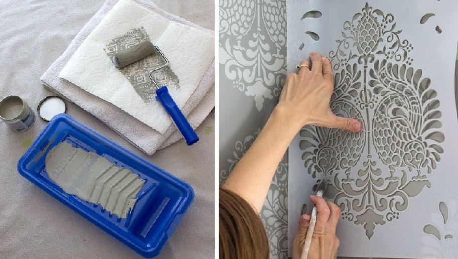 Интересная идея для декора: трафаретная роспись стен