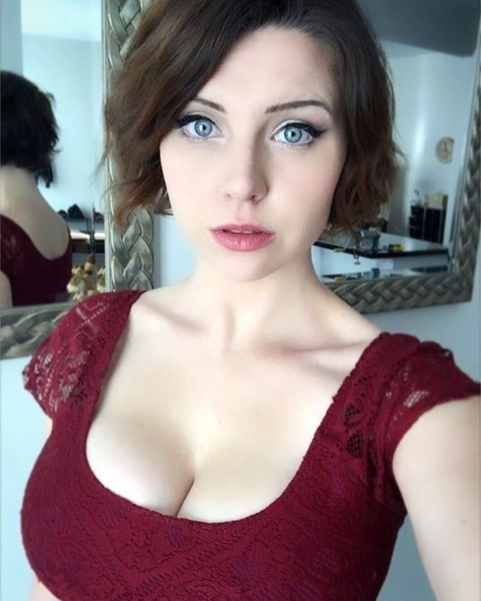 Goddess decollete: girls who can not look into their eyes