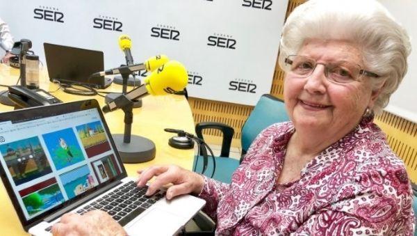 87-летняя старушка рисует ши…
