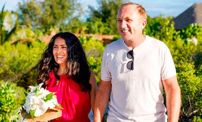 Сальма Хайек и Франсуа-Анри Пино повторили свадебные клятвы