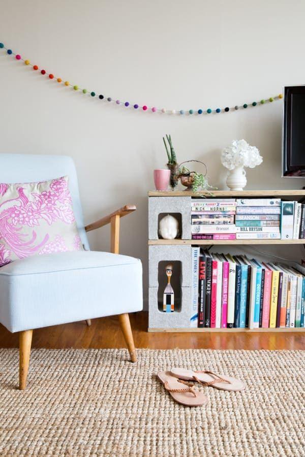 Применение шлакоблоков в доме и на участке интерьер,креатив,шлакоблок