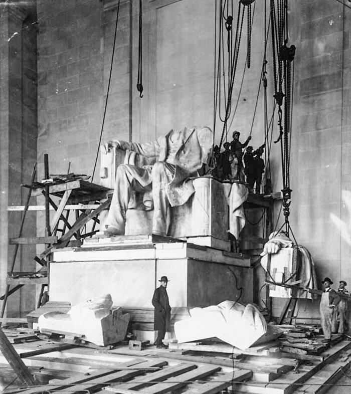 4. Мемориал Линкольна. Вашингтон, США архитектура, достопримечательности, интересно, исторические фото, исторические фотографии, познавательно, сооружения, строительство