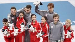 Наши фигуристы завоевали серебро в командном турнире на Олимпиаде