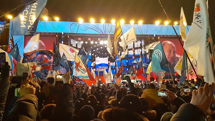 Владимир Путин на концерте «Россия. Севастополь. Крым»: «Спасибо вам за результат, вы наша общая команда»
