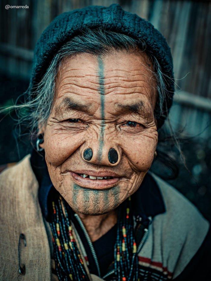 13. апатани, женщина, индия, народ, портрет, традиция, фотография, фотомир