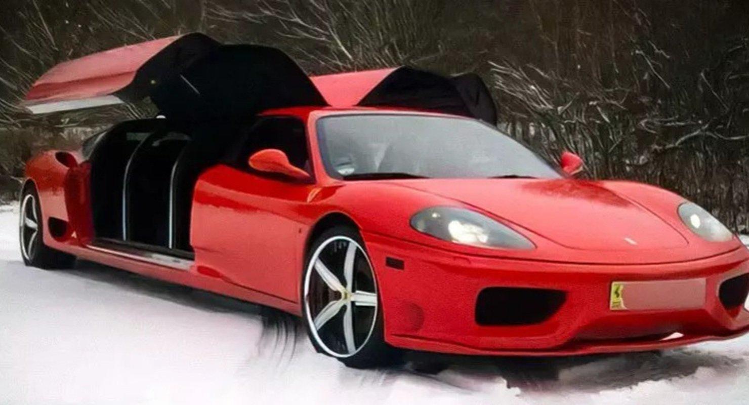 Лимузин на базе Ferrari 360 Modena хотят продать почти за 15 млн рублей Автомобили