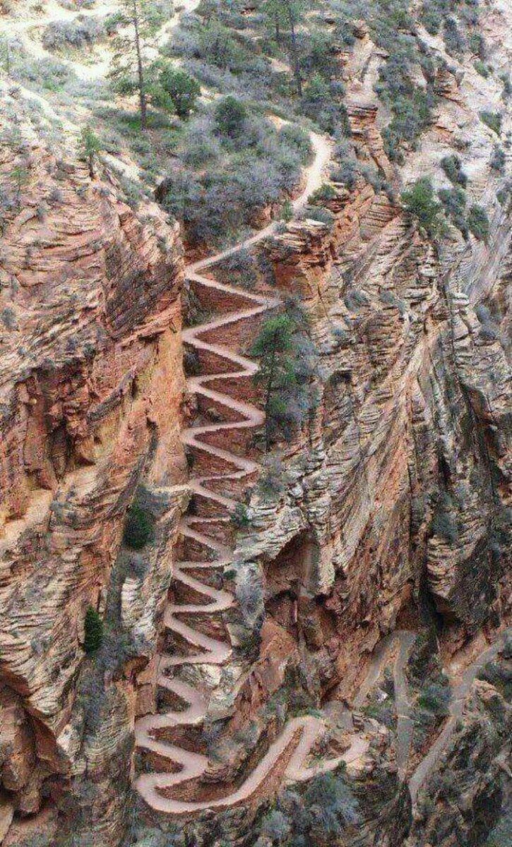 Национальный парк Зайон, штат Юта, США горы, интересное, красота, скалы, стройка, царь природы
