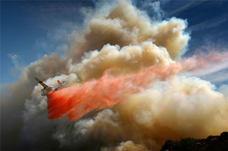 Тушение лесных пожаров в Калифорнии (2008г)