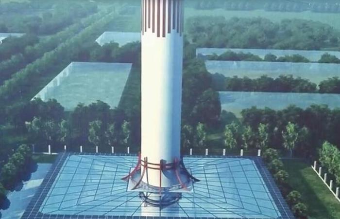 Построена смог башня высотой 100 метров посреди самого загрязненного города в Китае