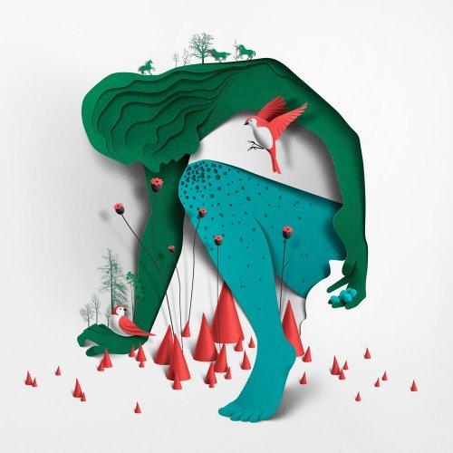 Бумажные иллюстрации художника Эйко Оялы (11 фото)