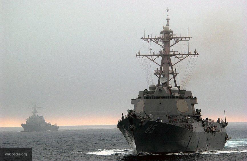 В Балтийском море корабли ВМФ приступили к наблюдению за эсминцами США