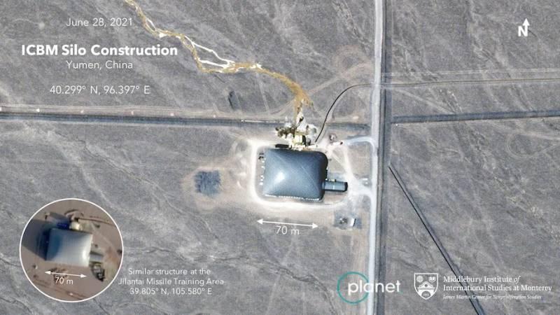 119 ракет в пустыне. Китай строит новый позиционный район ракетных войск армия