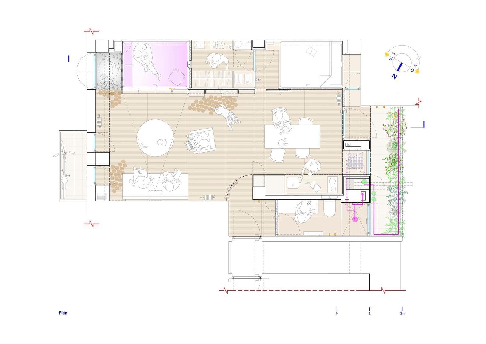 Интерьер квартиры с огородом