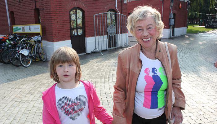 Александра Назарова с внучкой. / Фото: www.just-lady-me.ru