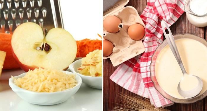 оладьи с яблоками без яиц на молоке