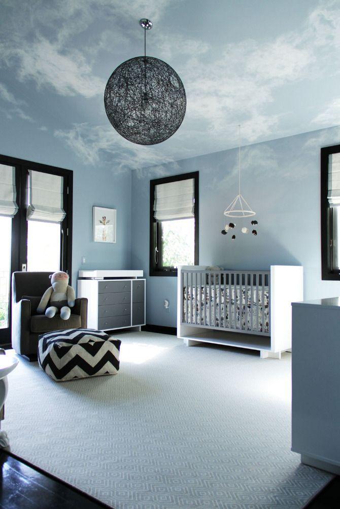 Облака в интерьере - дизайн детской. Фото 4