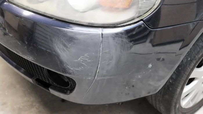 Как отремонтировать трещину на бампере авто