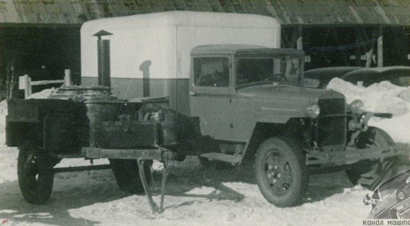 Хлебный фургон на шасси ГАЗ-ММ СССР, авто, автомобили, автофургон, грузовик, ретро техника, фургон, хлеб