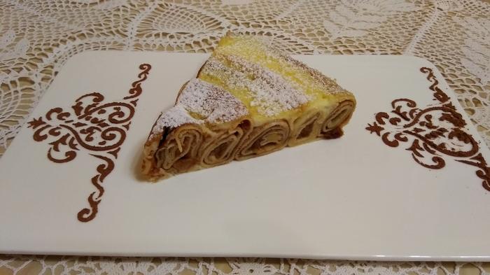 Сладкий пирог из блинчиков