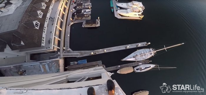 40 метров вниз, брызги и жажда подписчиков
