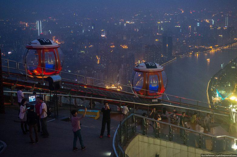 Любуемся красивыми видами, открывающимися со смотровой площадки башни Гуанчжоу Гуанчжоу,Китай,смотровые площадки