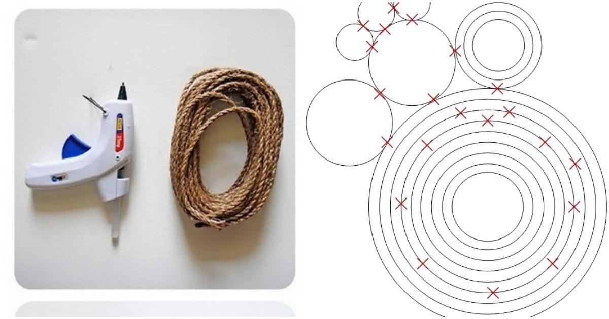 С помощью клея и веревки у вас получится стильный декор для каждой комнаты