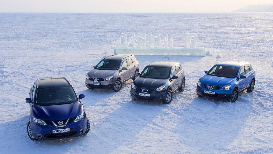 Все поколения Nissan Qashqai на озере Байкал