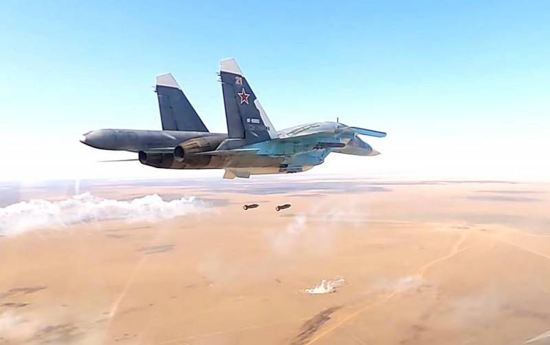 Охота российской авиации на банды ИГИЛ попала на видео
