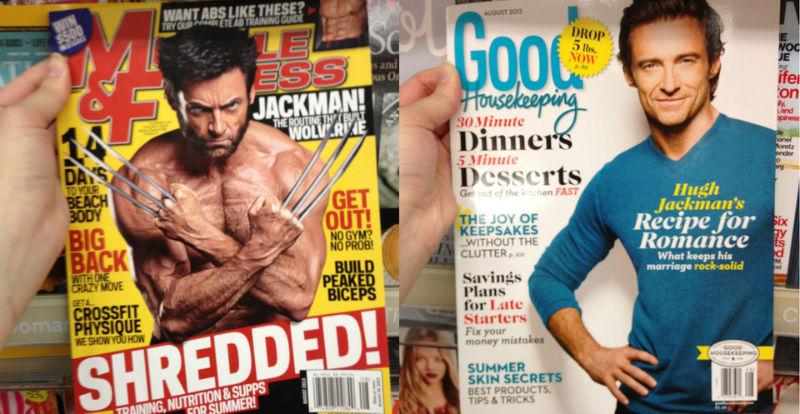 «Волосатый мускулистый»: на Reddit показали разницу между мужским и женским вкусом на примере Хью Джекмана