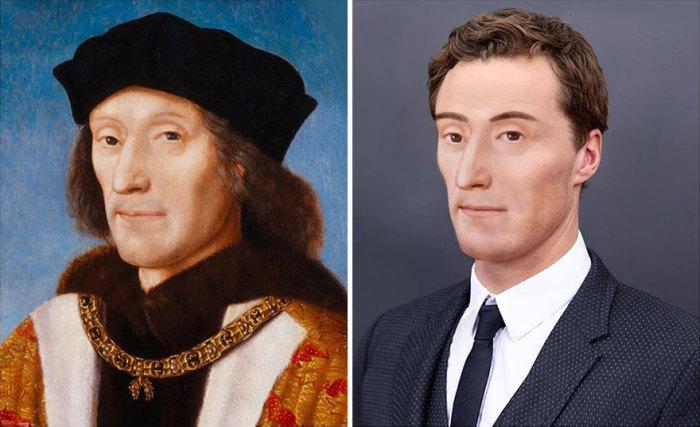 Генрих VII — король Англии и государь Ирландии.
